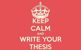 The process of writing your Master thesis